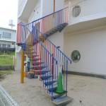 鉄骨階段 (外部)5